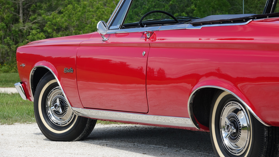 """1965 Plymouth Satellite Convertible """"Frame off 1 of 21 built Factory 426 wedge"""""""